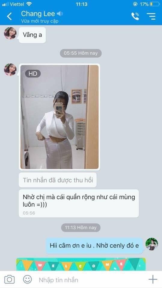 Chị Trang đã giảm cân tới nỗi tụt quần :))